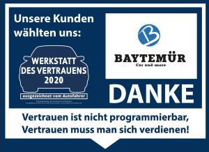 Werkstatt des Vertrauens 2020 Baytemuer Bosch Service.